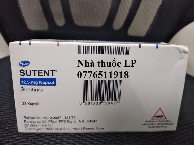 Thuốc Sutent 12.5mg Sunitinib điều trị ung thư ruột, tuyến tụy hoặc thận (4)