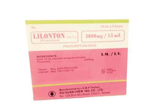 Thuốc Lilonton F.C. Tablet 800mg Piracetam điều trị triệu chứng chóng mặt