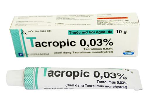 Thuốc Tacropic 0,03% Tacrolimus điều trị chàm thể tạng