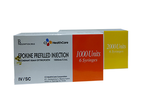 Epokine Prefilled injection 2000 Units/0,5ml