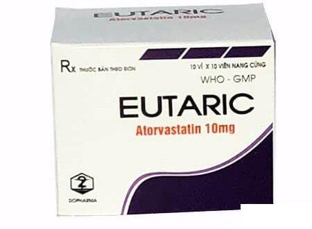 Thuốc Eutaric 10mg Atorvastatin giảm cholesterol toàn phần