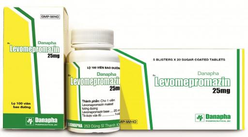 Thuốc Levomepromazin 25mg điều trị rối loạn do lo âu, rối loạn giấc ngủ, bệnh tâm thần, buồn nôn, ói mửa hoặc giảm đau