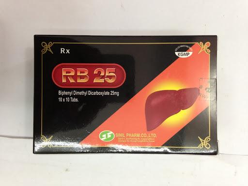 Thuốc RB-25 25mg Biphenyl Dimethyl Dicarboxylate điều trị viêm gan