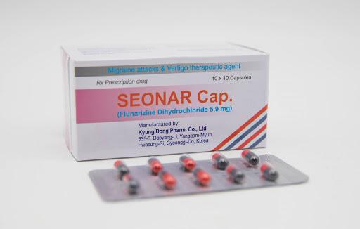 Thuốc Seonar tab 5mg Flunarizine dihydrochloride dự phòng và điều trị chứng đau nửa đầu
