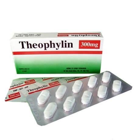 Thuốc Theophylin 300mg giãn cơ trơn phế quản