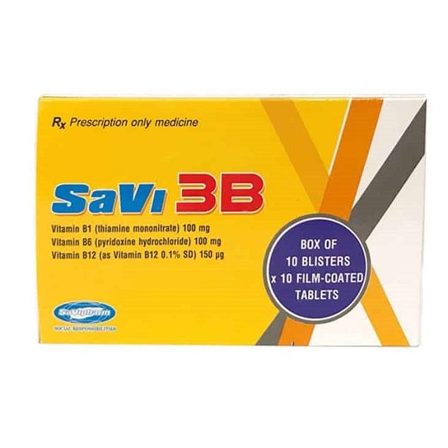 Thuốc SaVi 3B điều trị các trường hợp thiếu Vitamin nhóm B
