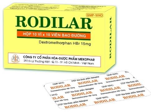 Thuốc Rodilar 15mg Dextromethorphan chữa trị chứng ho