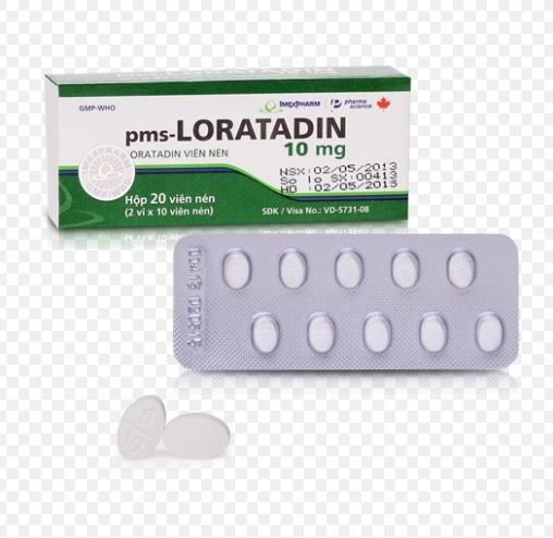 Thuốc Loratadine Tablets 10mg điều trị viêm mũi dị ứng, viêm kết mạc dị ứng, ngứa và mày đay liên quan đến Histamin