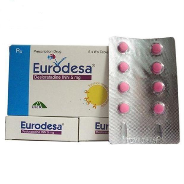 Thuốc Eurodesa 5mg Desloratadine điều trị viêm mũi dị ứng, mày đay