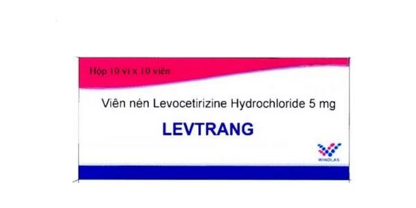 Thuốc Levtrang 5mg Levocetirizine hydrochloride điều trị các trường hợp dị ứng