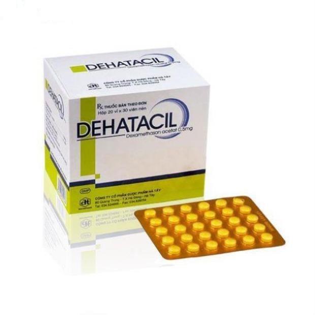 Thuốc Dehatacil 0,5 mg Dexamethasone acetate điều trị các bệnh viêm khớp và mô mềm