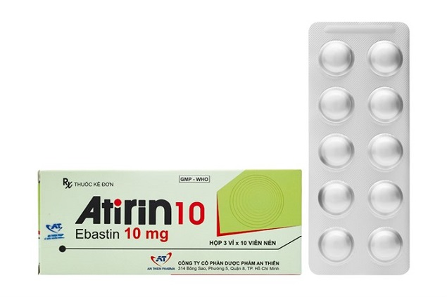Thuốc Atirin 10 10mg Ebastin điều trị viêm mũi dị ứng theo mùa hoặc quanh năm