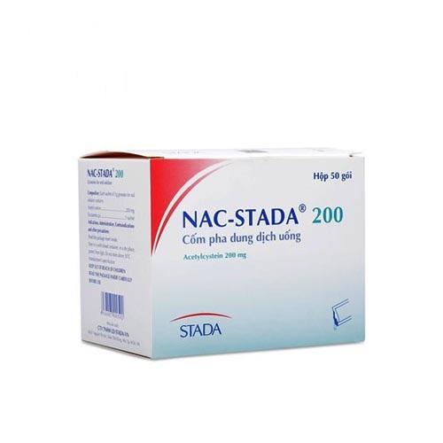 Thuốc Nac-Stada 200 200mg Acetylcystein điều trị viêm phế quản