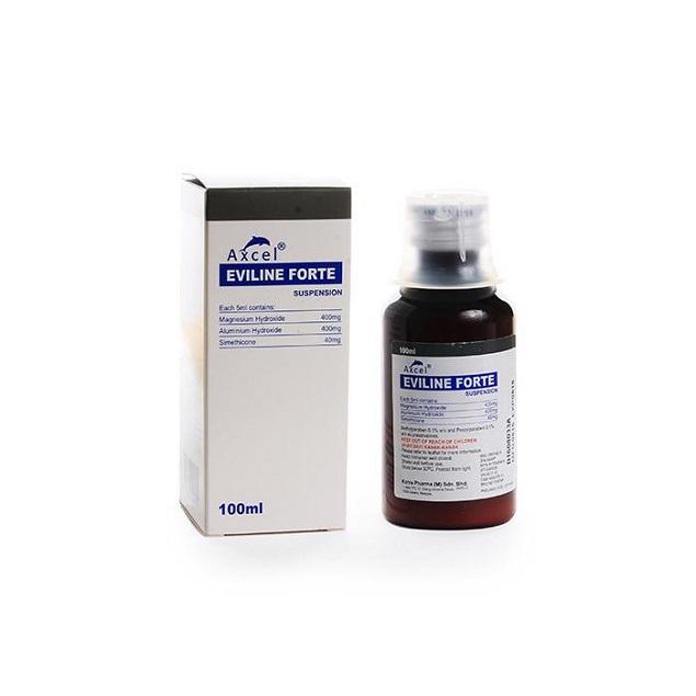 Thuốc Axcel Eviline forte suspension điều trị viêm loét dạ dày - tá tràng