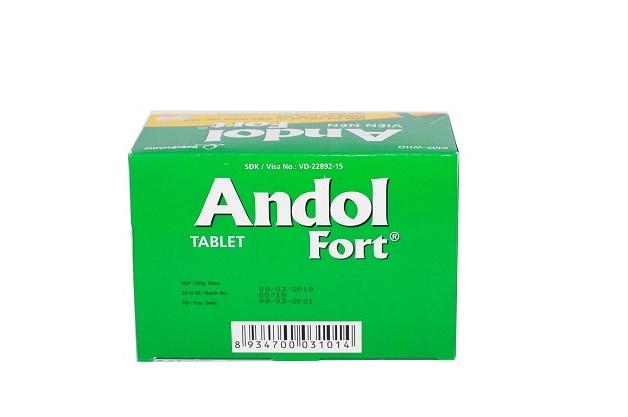 Thuốc Andol Fort điều trị các triệu chứng cảm cúm