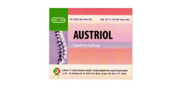 Thuốc Austriol 0,25 mcg Calcitriol điều trị loãng xương