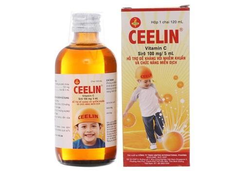 Thuốc Ceelin+Zn phòng và điều trị thiếu Vitamin C hoặc thiếu kẽm