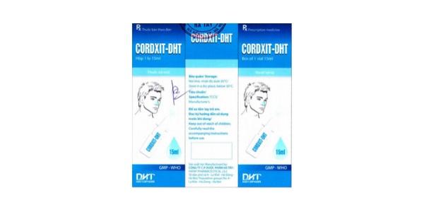 Thuốc Cordxit-DHT điều trị tại chỗ các bệnh viêm nhiễm và dị ứng vùng tai mũi họng