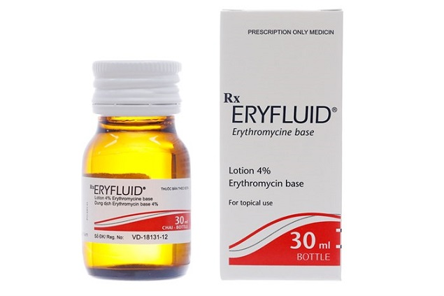 Thuốc Eryfluid 4g/100ml Erythromycin điều trị mụn trứng cá