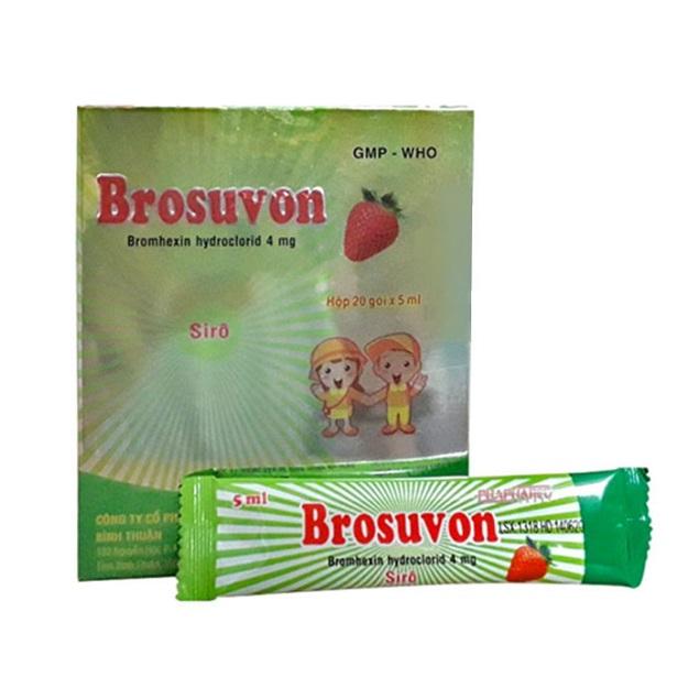 Thuốc Brosuvon 4mg Bromhexin hydroclorid điều trị bệnh đường hô hấp tăng tiết đàm