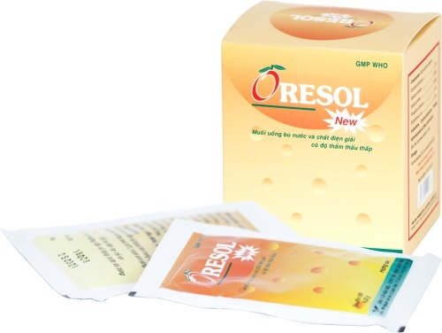 Thuốc Oresol điều trị chứng mất nước và chất điện giải