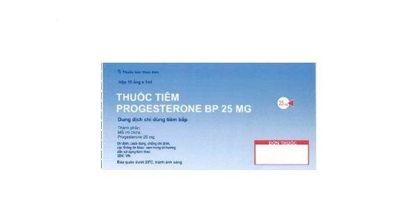 Thuốc Progesterone injection BP 25mg điều trị chảy máu rối loạn chức năng tử cung