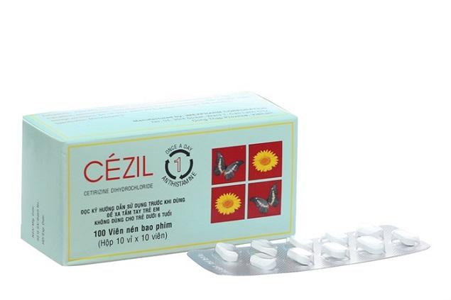 Thuốc Cezil 10mg Cetirizine điều trị viêm mũi dị ứng