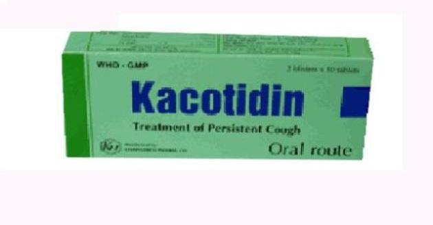 Thuốc Kacotidin điều trị ho, làm long đàm