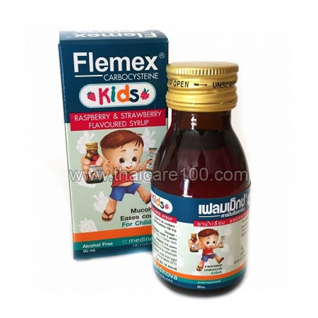 Thuốc Flemex kids trị ho, long đờm