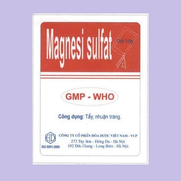Thuốc Magnesi sulfat gây nhuận tràng, bổ sung điện giải làm tăng kích thích sự vận động của ruột