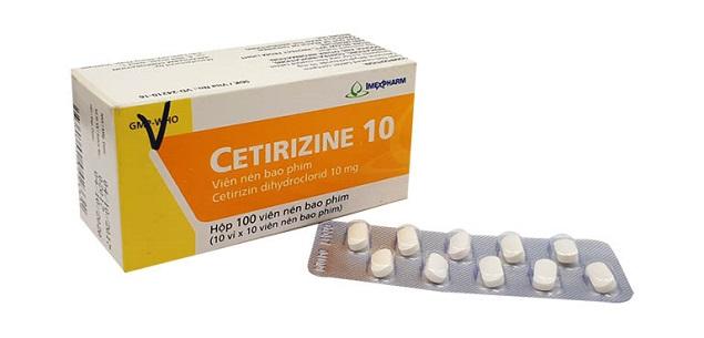 Thuốc Cetirizin 10mg làm giảm những triệu chứng của bệnh viêm mũi dị ứng hoặc nổi mề đay, ngứa