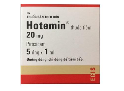 Thuốc Hotemin 20mg Piroxicam điều trị viêm xương khớp, viêm khớp dạng thấp hoặc viêm đốt sống dạng thấp