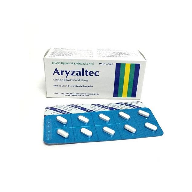 Thuốc Aryzaltec 10mg Cetirizin dihydroclorid điều trị triệu chứng các biểu hiện dị ứng