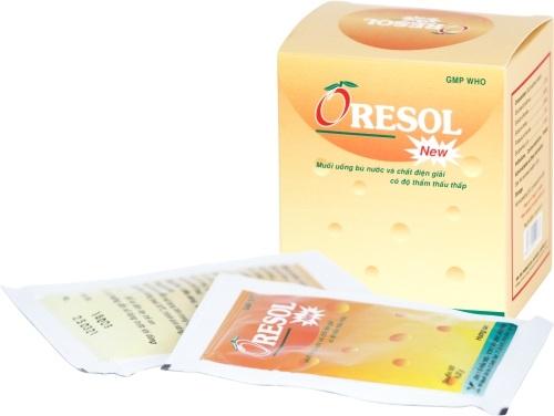Thuốc Oresol điều trị chứng mất nước và chất điện giải trong các trường hợp tiêu chảy