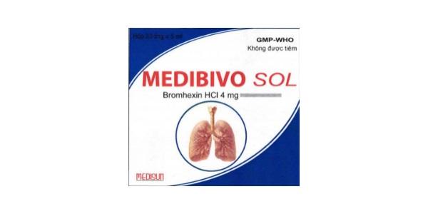Thuốc Medibivo sol 4mg Bromhexin hydroclorid điều trị ho do kích ứng và ho khan