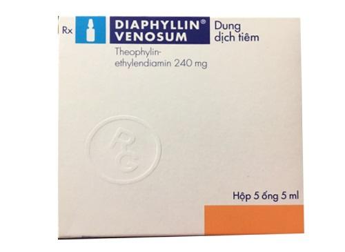 Thuốc Diaphyllin Venosum 4.8% điều trị hen tim và hen phế quản