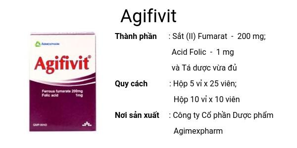 Thuốc Agifivit điều trị và dự phòng các loại thiếu máu do thiếu sắt