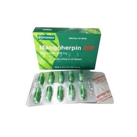 Thuốc Mangoherpin 200 200mg Mangiferin điều trị nhiễm virus ngoài da