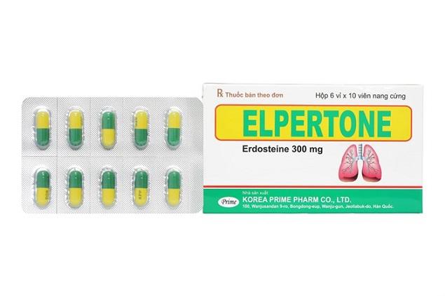 Thuốc Elpertone 300mg Erdosteine điều trị triệu chứng cho các trường hợp đợt cấp của viêm phế quản mạn tính ở người lớn
