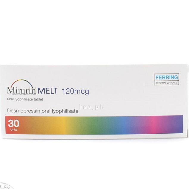 Thuốc Minirin Melt Oral Lyophilisate 120mcg Desmopressin chữ trị tiểu đêm