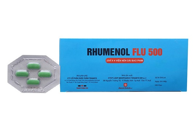 Thuốc Rhumenol Flu 500 điều trị cảm cúm