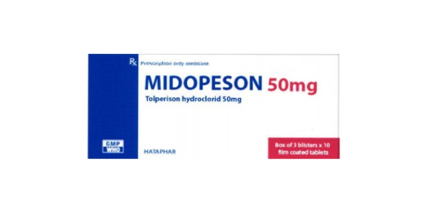 Thuốc Midopeson 50mg Tolperisone hydrochloride điều trị sự tăng trương lực cơ