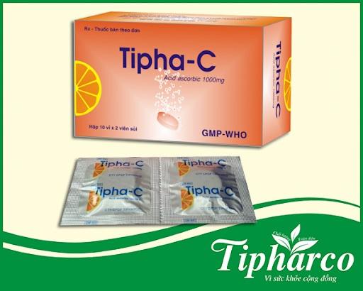 Thuốc Tipha-C 1000mg Acid ascorbic phòng và trị bệnh do thiếu canxi