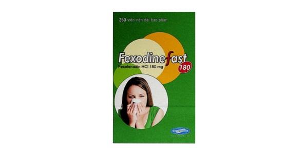 Thuốc FexodineFast 180mg Fexofenadin HCl điều trị các triệu chứng do viêm mũi dị ứng theo mùa