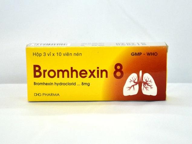 Thuốc Bromhexine 8mg điều trị bệnh đường hô hấp tăng tiết đàm & khó long đàm
