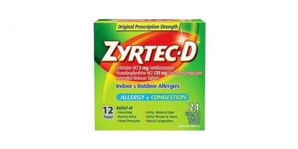 Thuốc Zyrtec D điều trị viêm mũi dị ứng