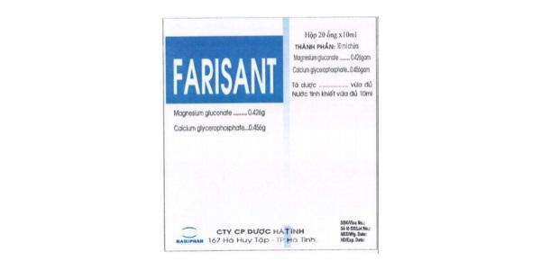 Thuốc Farisant điều trị suy nhược chức năng