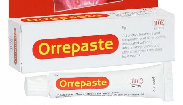 Thuốc Orrepaste hỗ trợ điều trị và làm giảm những triệu chứng do viêm, loét ở miệng và cổ họng
