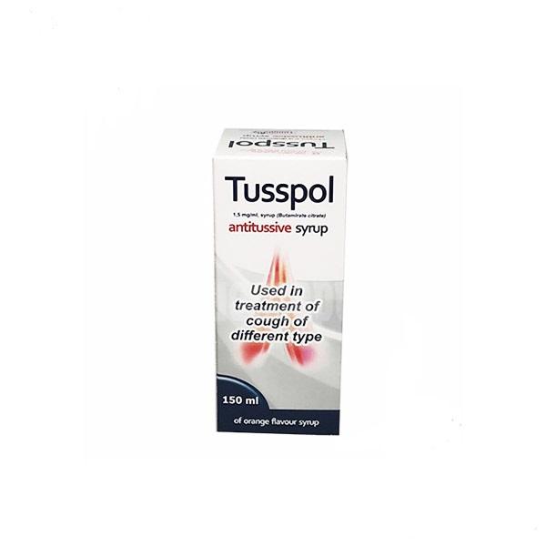 Thuốc Tusspol 1,5mg/1ml Butamirate citrate điều trị ho cấp tính