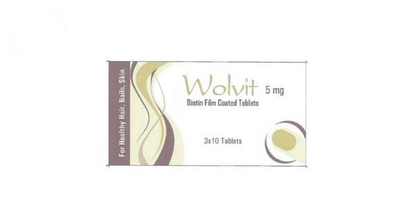 Thuốc Wolvit 5mg Biotin điều trị biến chứng và phòng bệnh gây ra bởi sự thiếu Biotin ở người lớn và trẻ em